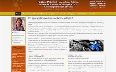 Site pour profession liberale - kinesiologue